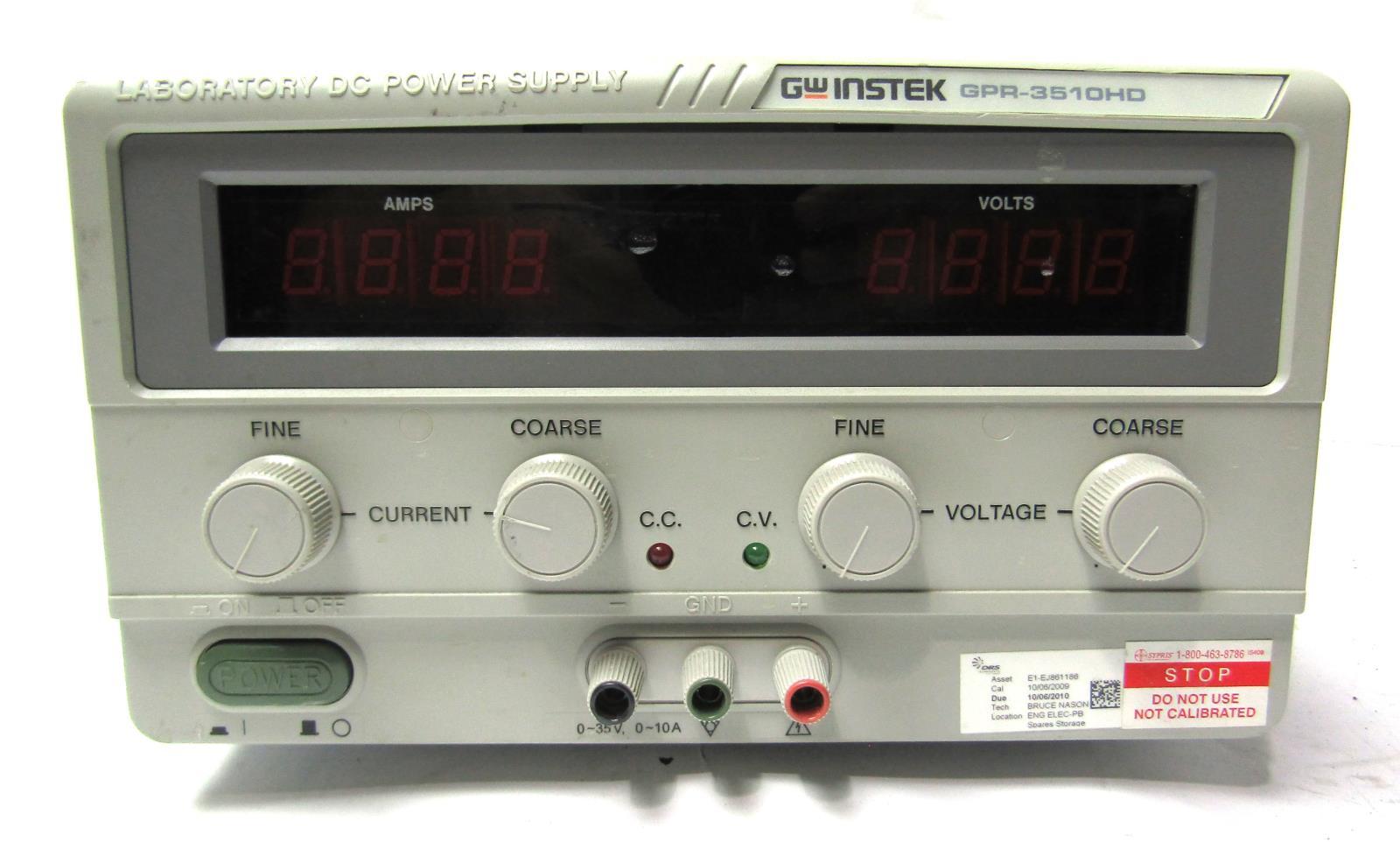Gw Instek Gpr 3510hd Laboratory Dc Power Supply 3 1 2