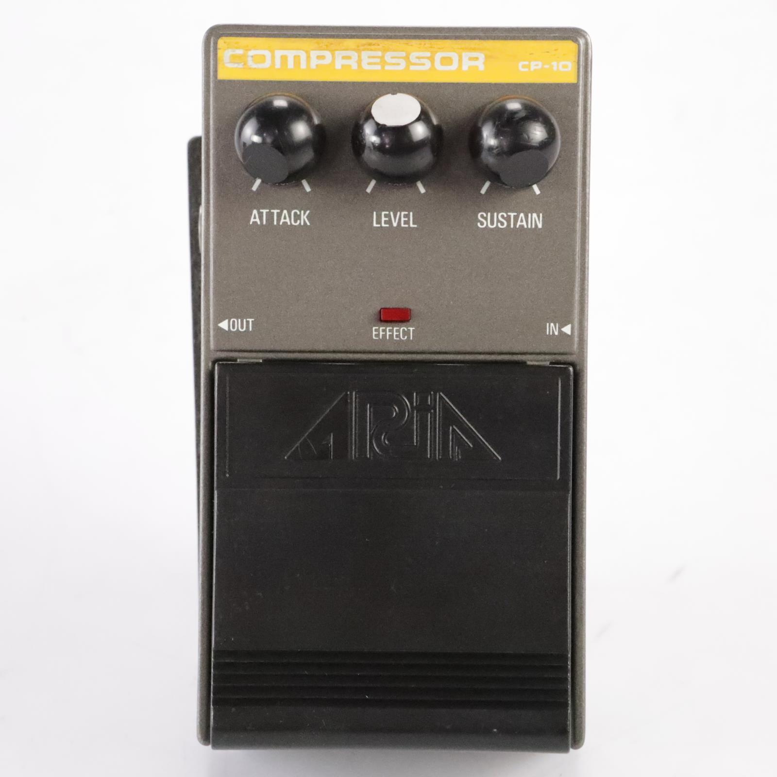 Aria CP-10 Compressor Sustain Guitar Pedal w/ 2 Cables CP10 MIJ Japan #34703