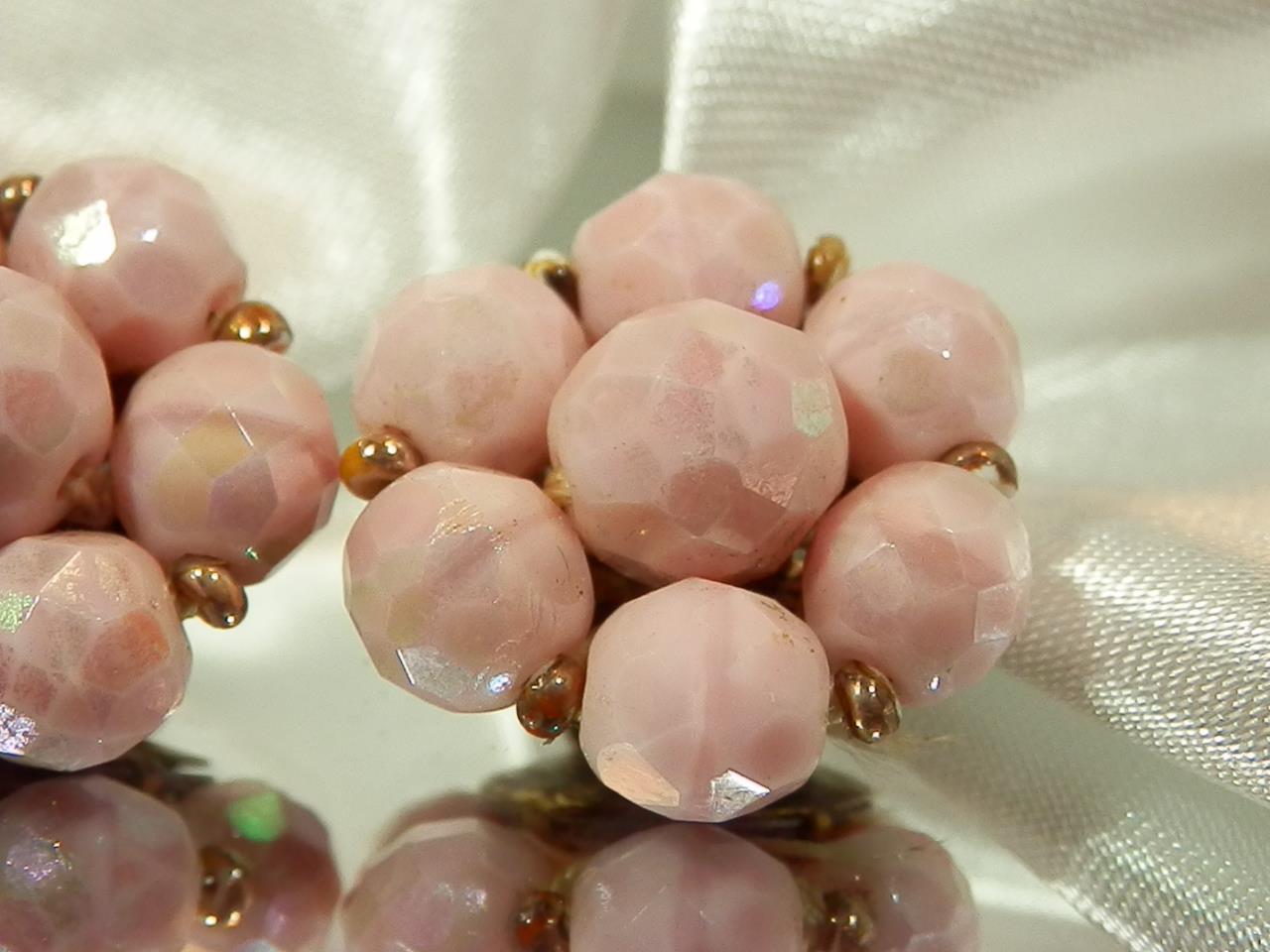 Pink 1950\u2019s Glass Choker