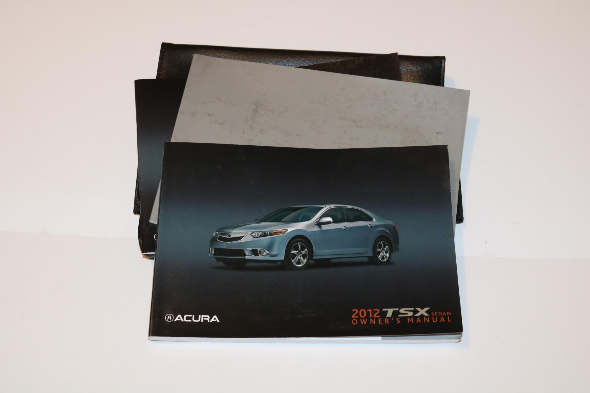 12 2012 Acura TSX Owners Manual Book Guide Set W/ Case