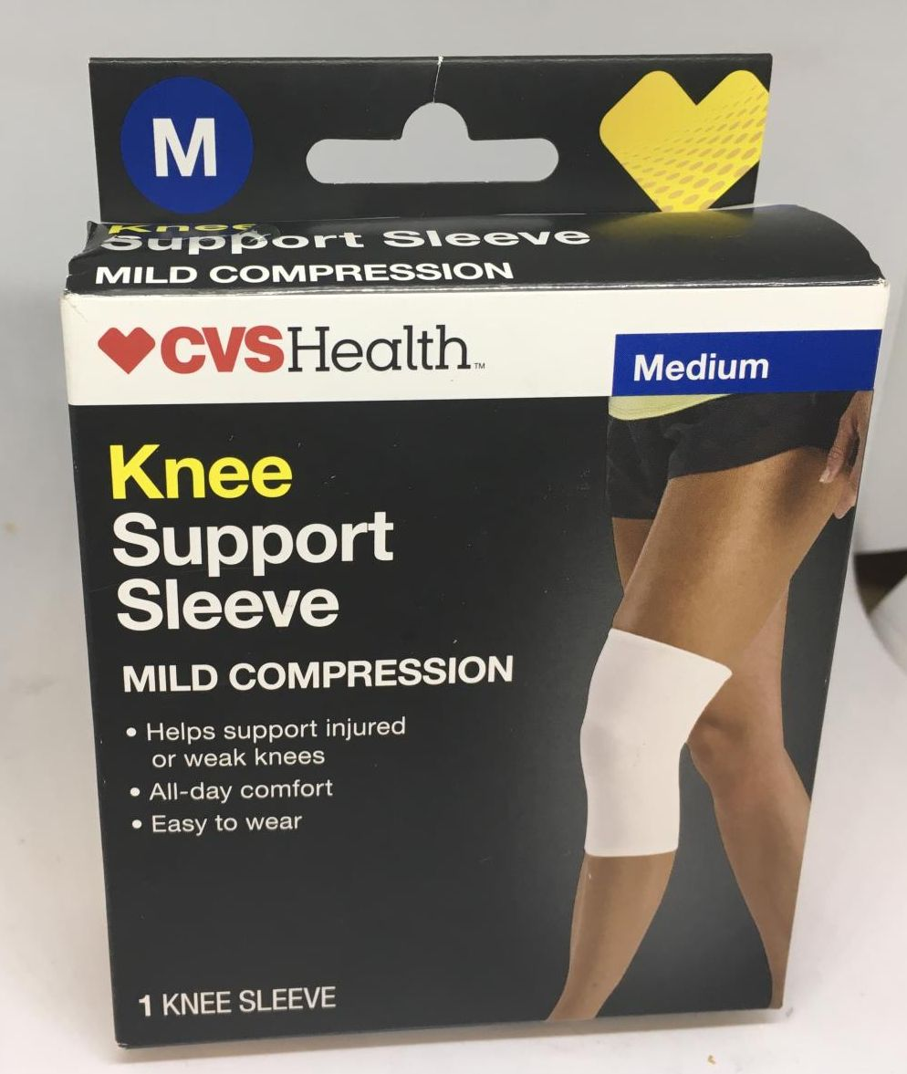 cvs health knee support sleeve mild compression size medium x2 for sale online