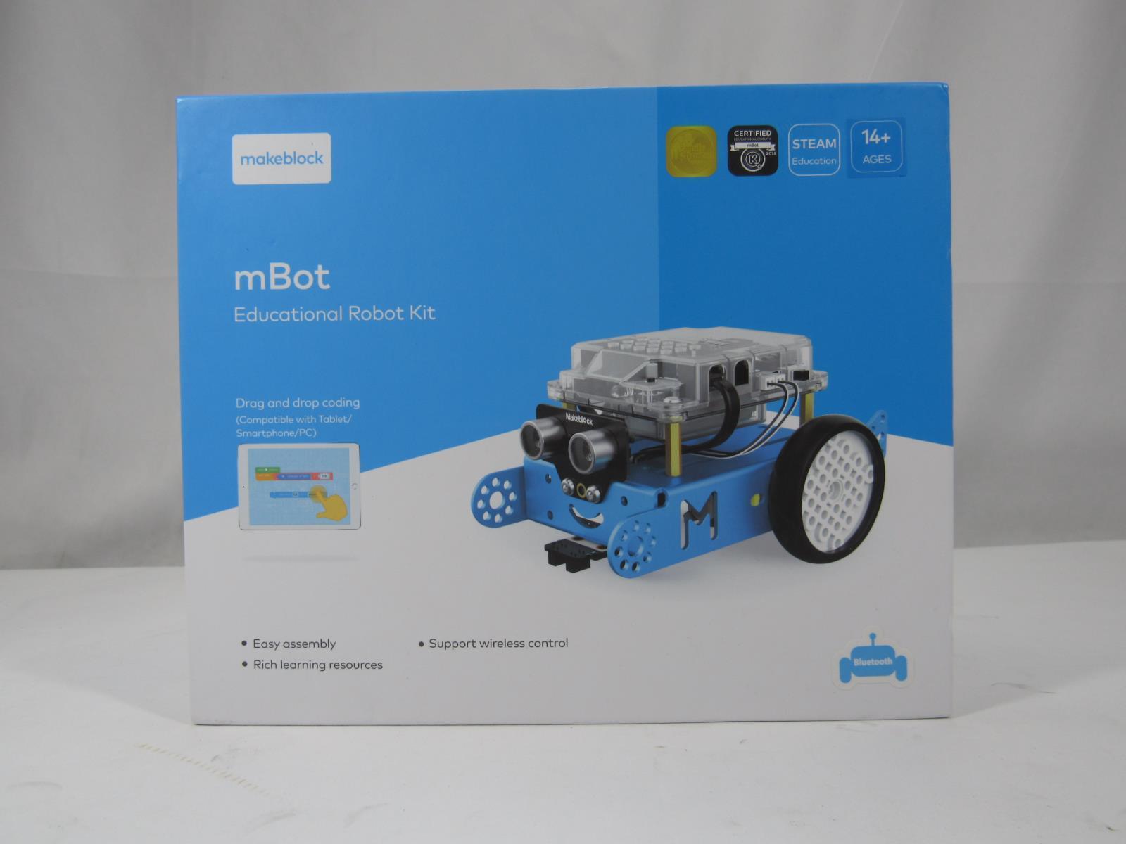 Details about New Makeblock mBot Education STEM Robot Kit Bluetooth Version  Blue 689-W101
