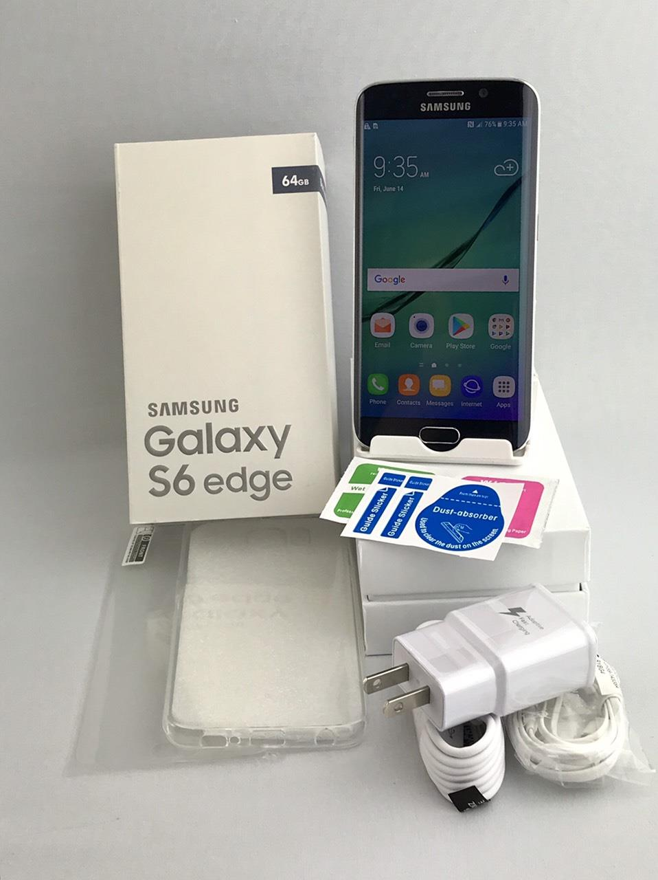 Samsung Galaxy S6 Edge SM-G925A 64GB Black Sapphire! Fits