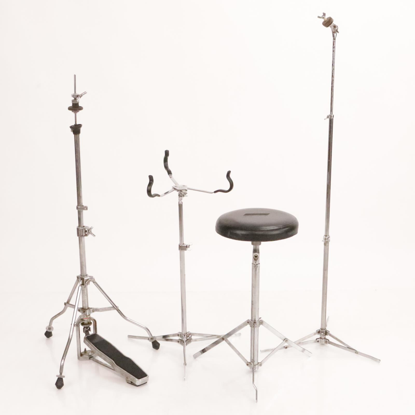 1950's Vintage Ludwig Drum Stands Hardware Snare Hi-Hat Cymbal Throne #36490
