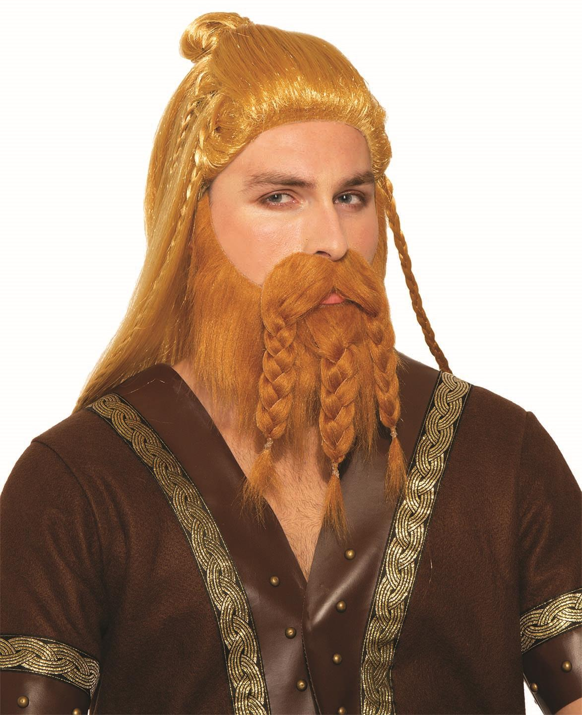 Deluxe Brown Braided Viking Beard With Wig Ebay