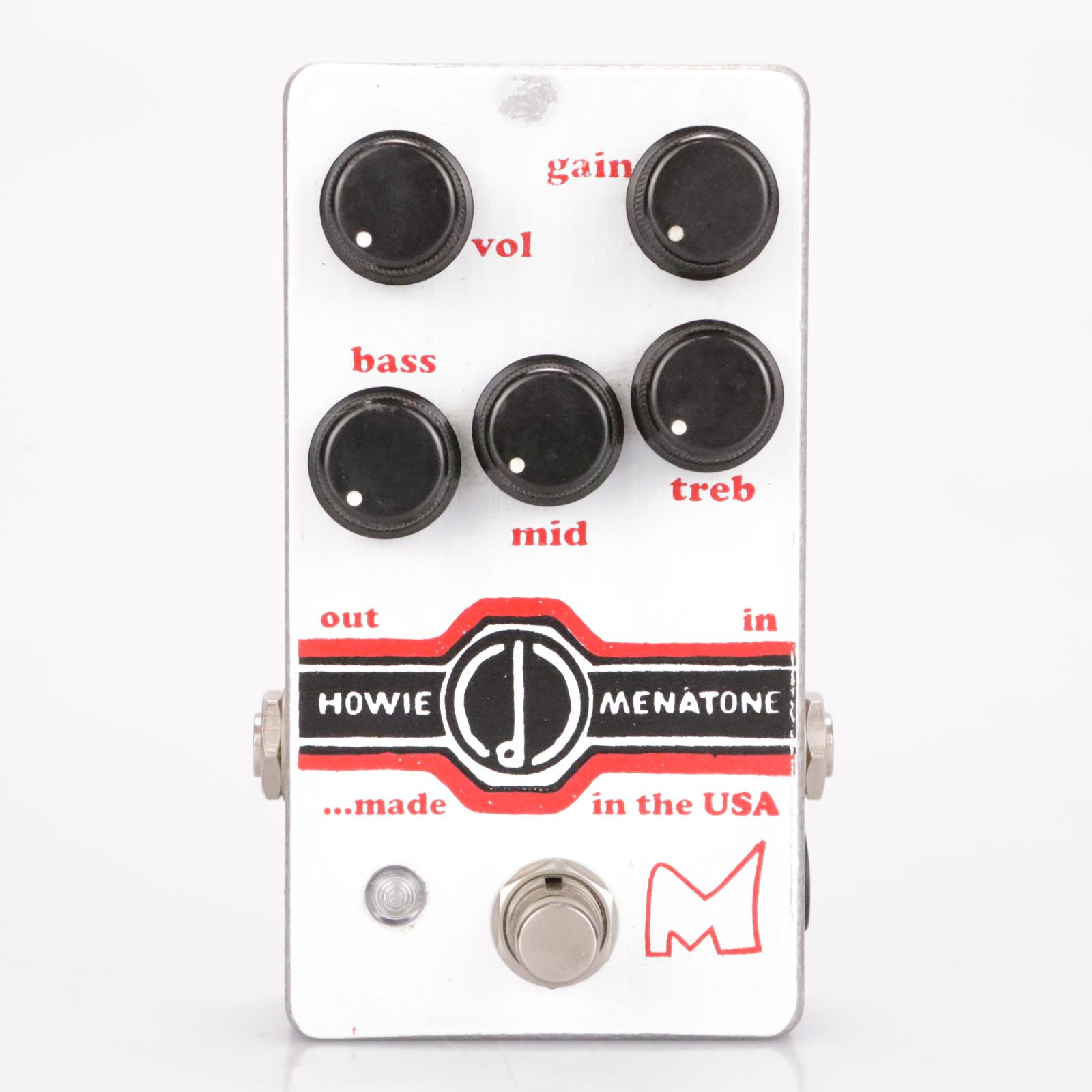 Menatone Howie 5 Knob Hand Wired Custom Shop Dumble Style Overdrive Pedal #36792