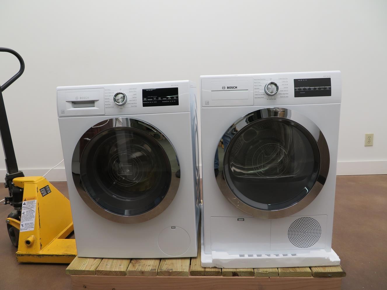 Details About Bosch 800 Series White Light Washer Dryer Set Wat28402uc Wtg86402uc Img