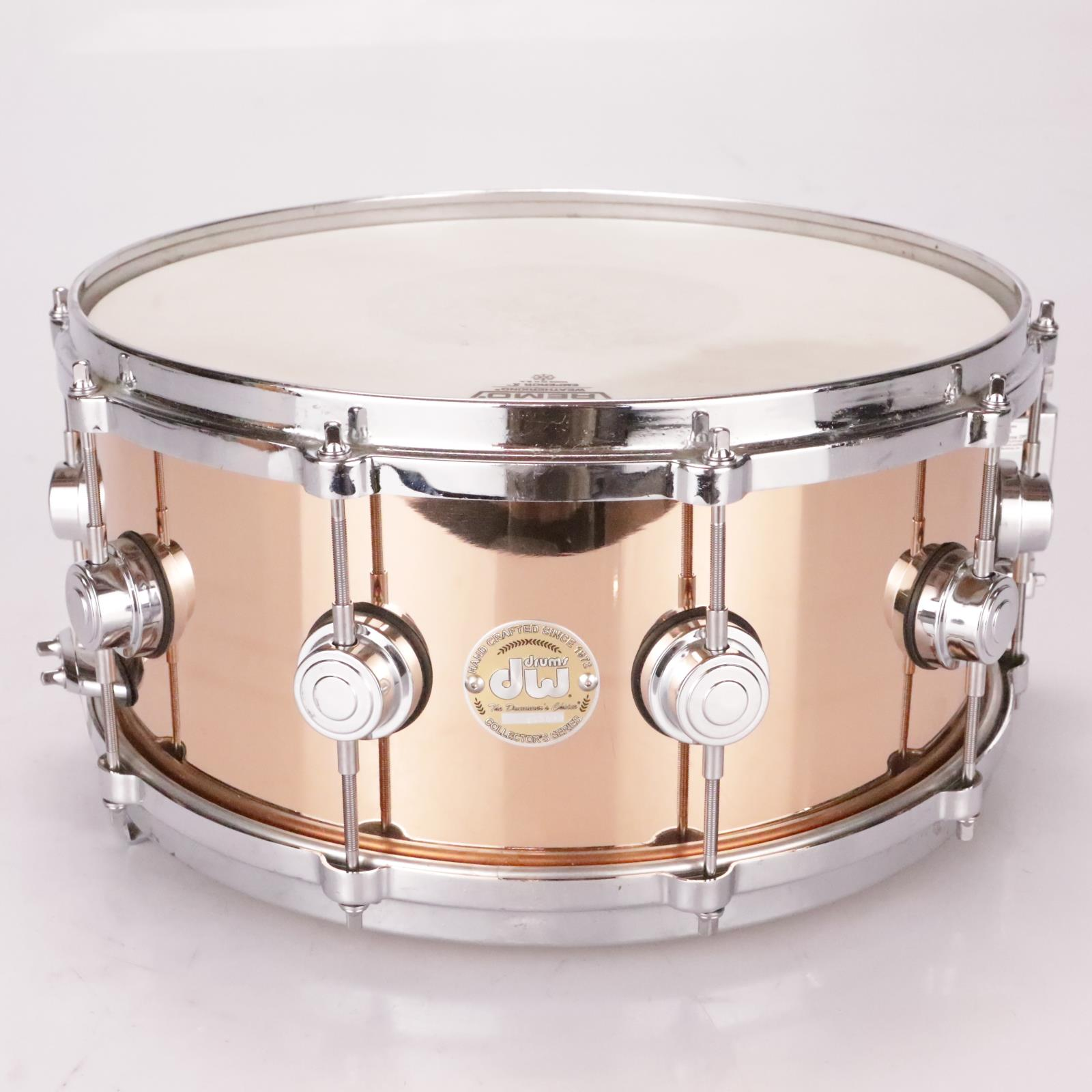 """DW 14"""" x 6.5"""" Collector's Series Bronze Shell Smooth Snare Drum #36928"""