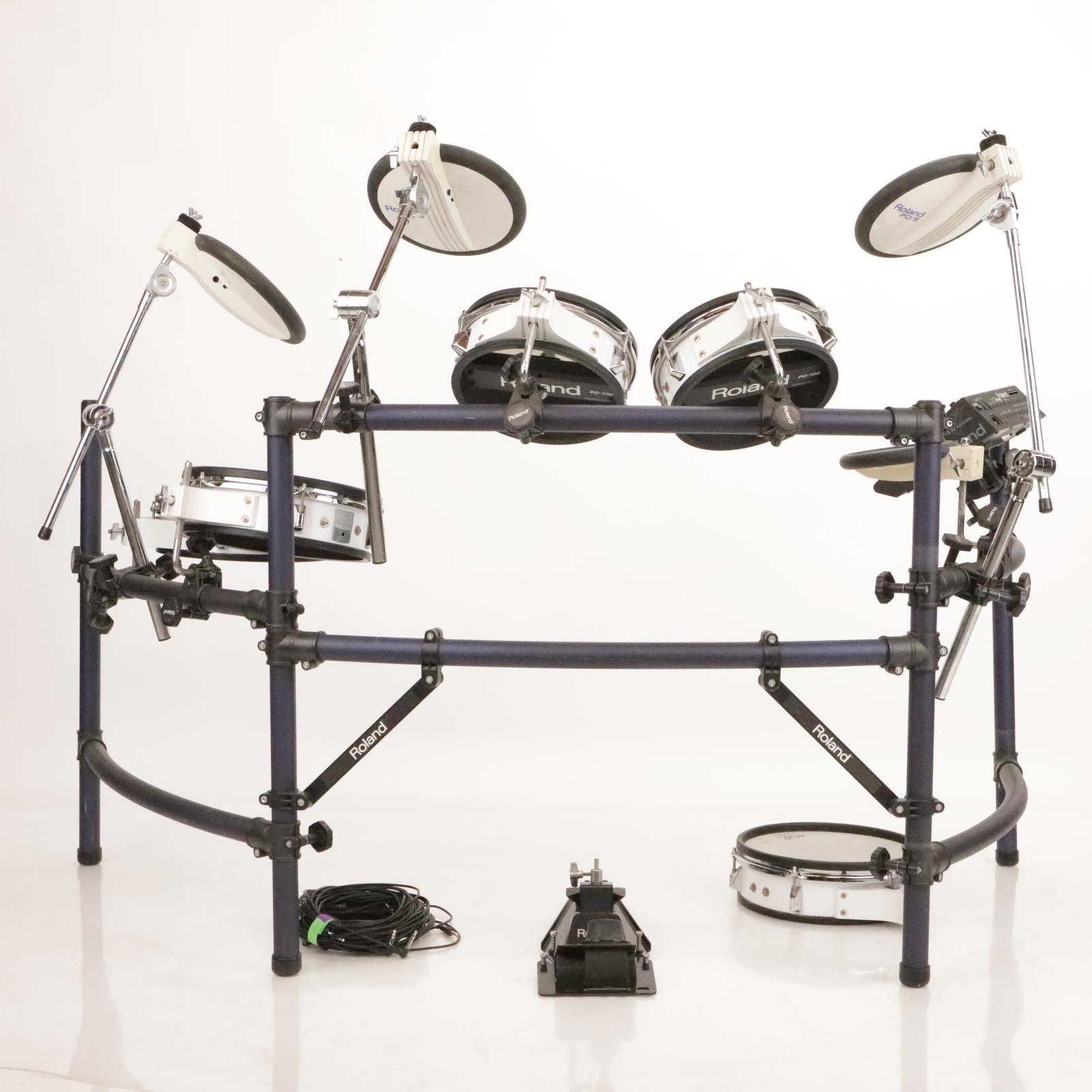Roland TD-10 KV V-Drums Electronic Drum Kit PD-100 PD-120 KD-7 FD-7 Rack #36927
