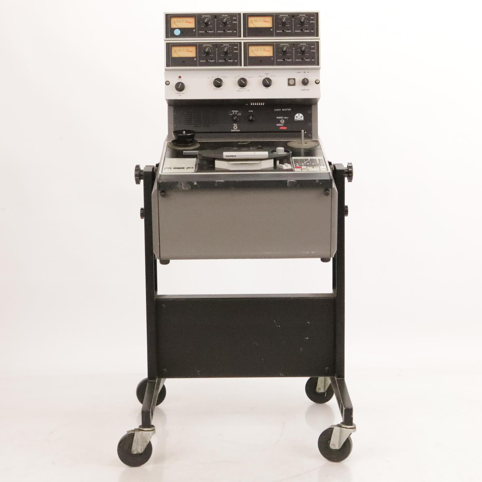 "Ampex ATR-104 1/2"" 4 Track Analog Tape Mastering Recorder w/ Film Sync #36899"