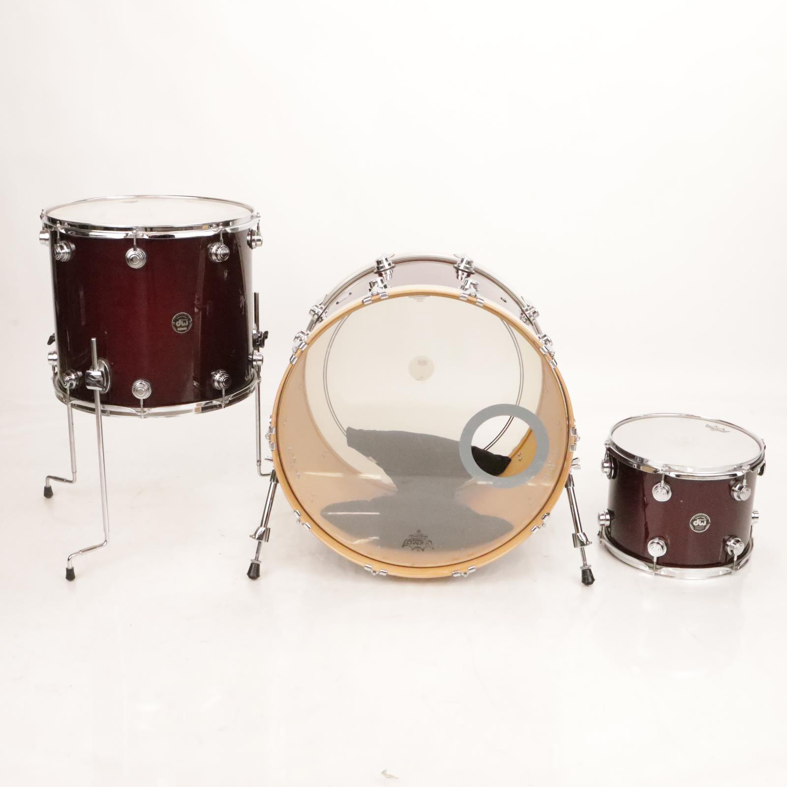 "3pc DW All Maple Shell Drums Drum Kit 13"" 18"" 24"" #36946"