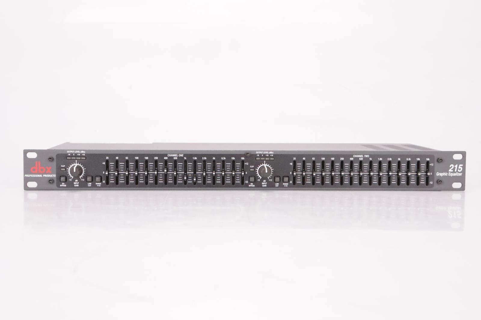 dbx 215 Dual Channel 15-Band Graphic Equalizer Rack EQ 215V #36945