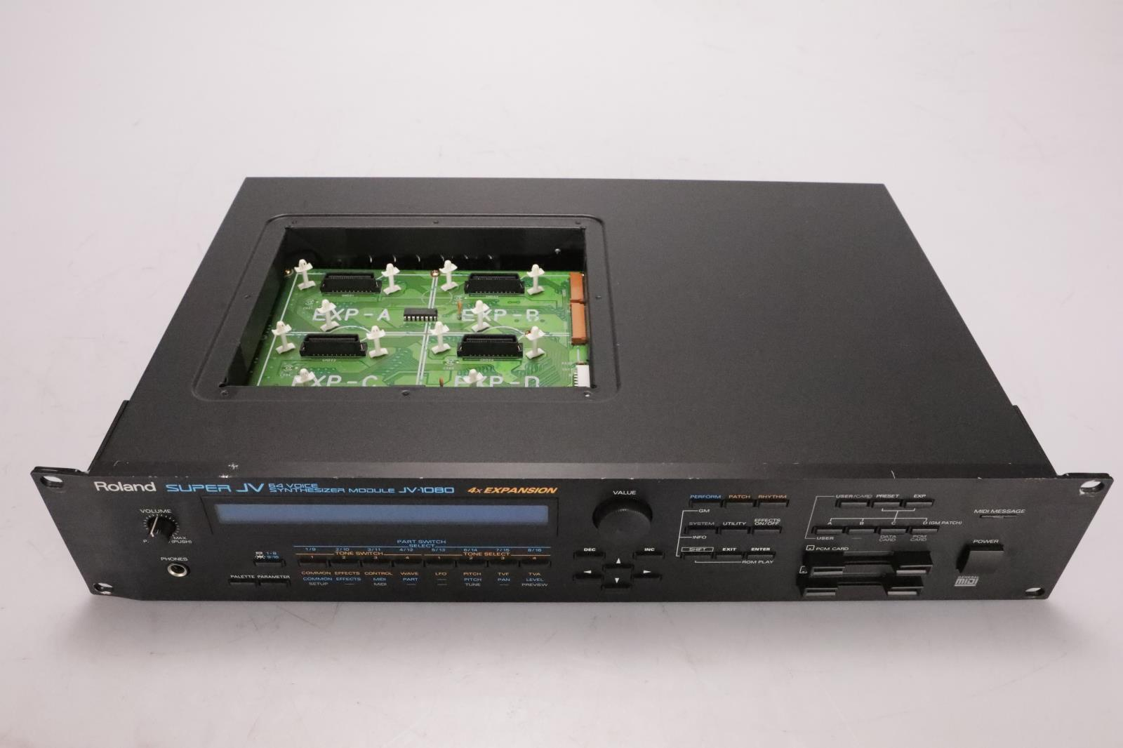 Roland Super JV JV-1080 64-Voice Synthesizer MIDI Sound Module #36989