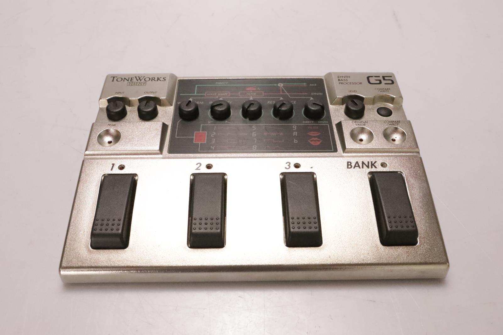 Korg ToneWorks G5 Bass Synth Processor Multi-Effects Pedalboard #36949