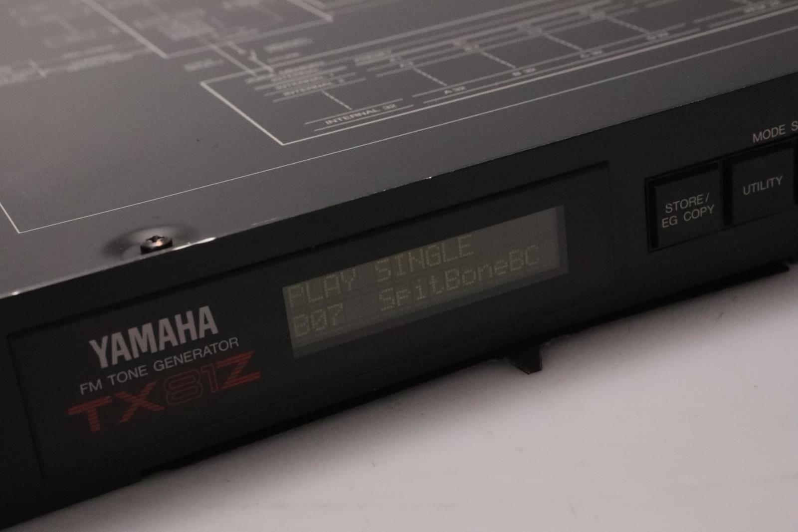 Yamaha TX81Z FM Tone Generator Multi-Timbral Synthesizer Module #36970