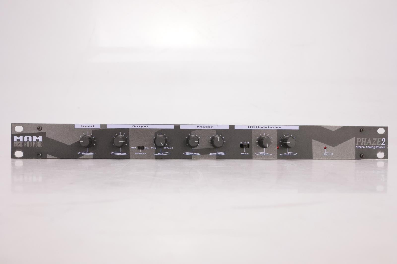 MAM Music and More Phaze 2 Stereo Analog Phaser #36959