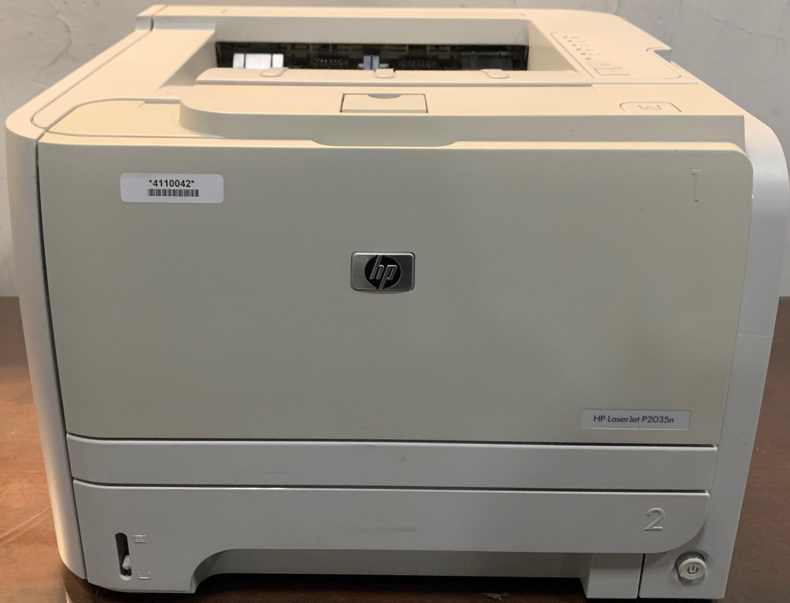 Details about HP LaserJet P2035N Workgroup Laser Printer Page Count 1100 No  Toner G2