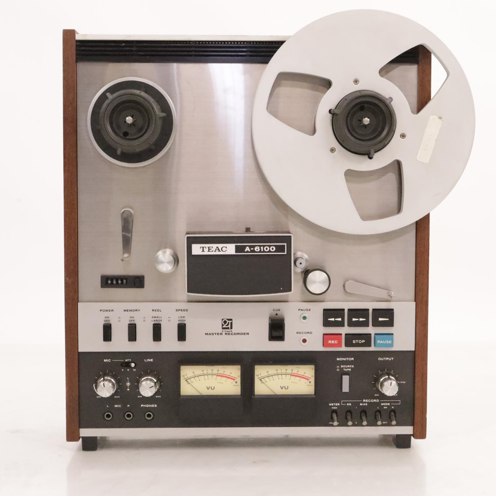 TEAC A-6100 2-Track Master Recorder Analog Tape #37232