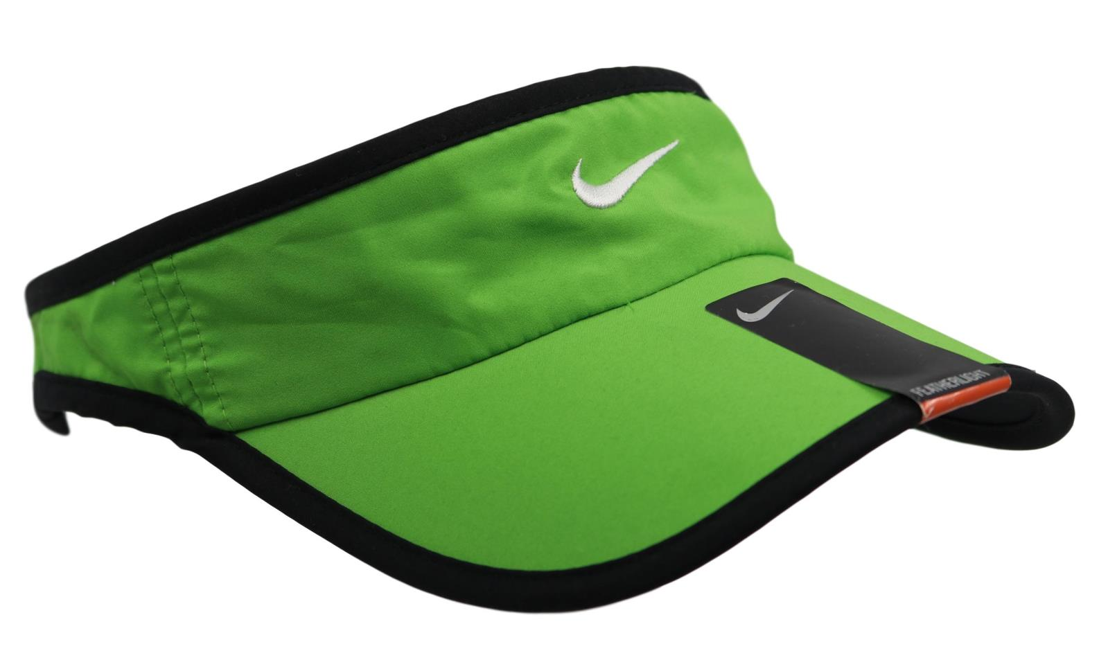 ee9bb596b Details about Nike Dri-Fit Featherlight Unisex Mens Womens Green Black  Adjustable Visor