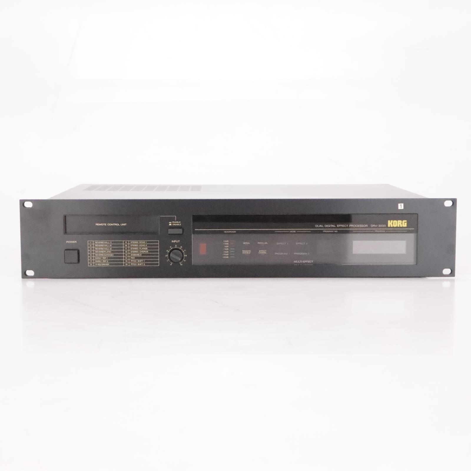 Korg DRV-3000 Dual Digital Effects Processor w/ Remote #37102