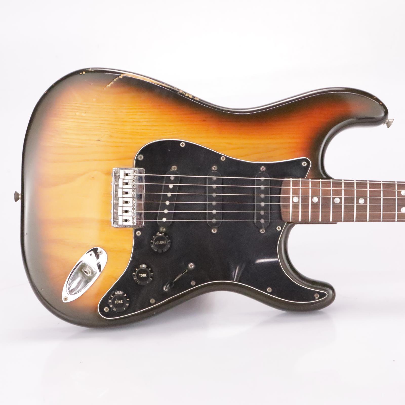 1980 Fender Stratocaster Hardtail Sunburst Rosewood Electric Guitar USA #37201