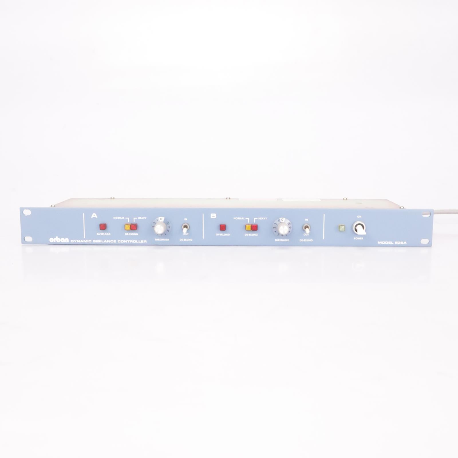 Orban 536A Dynamic Sibilance Controller Dual Channel Stereo De-esser #37100