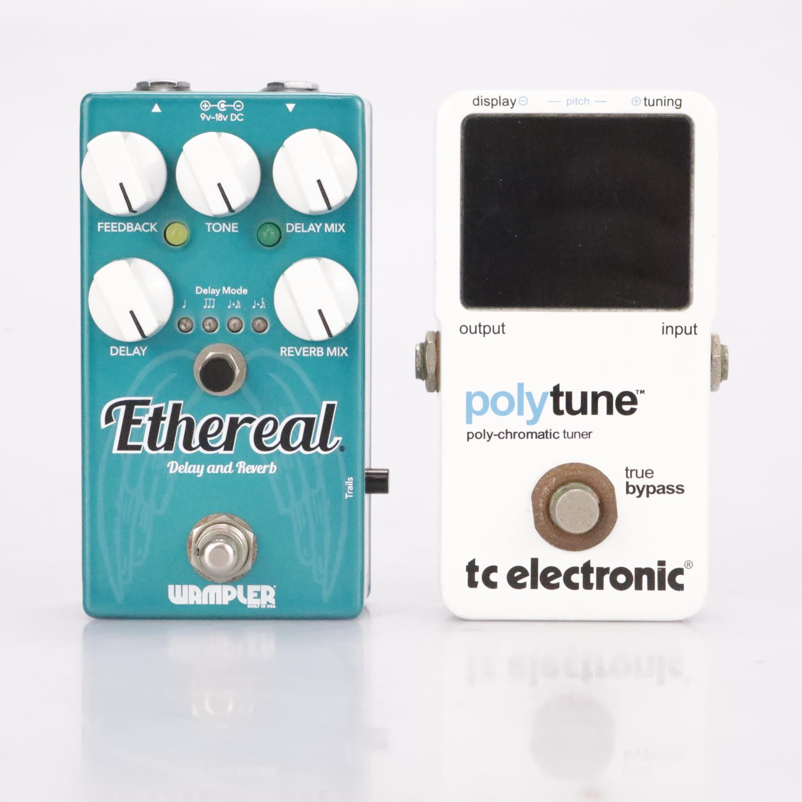 Wampler Ethereal Delay Effects Pedal & TC Electronic Polytune Tuner #37242