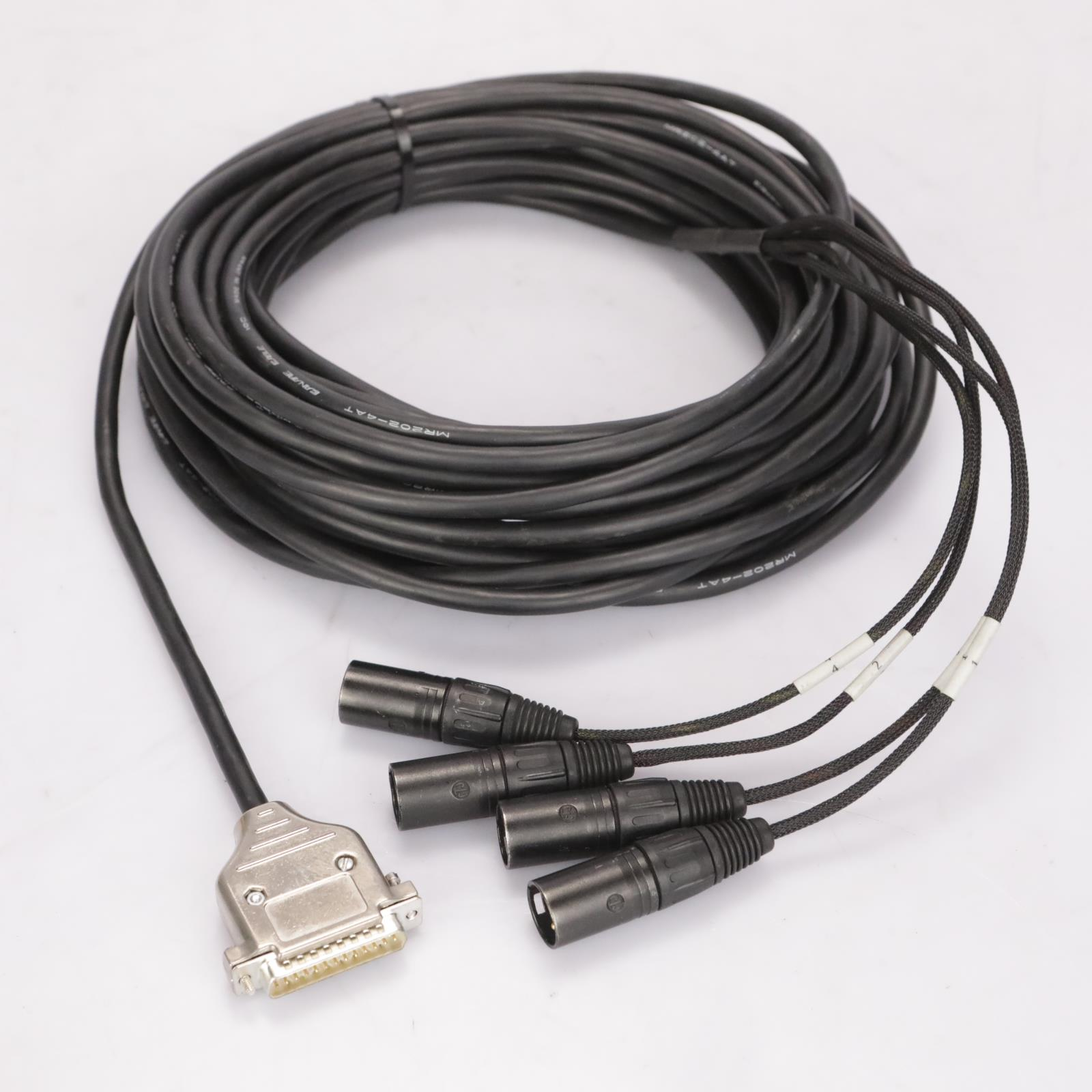 Canare 45' MR202-4AT DB25-XLR Male 8 Channel AES EBU Snake Cable D-Sub #37339