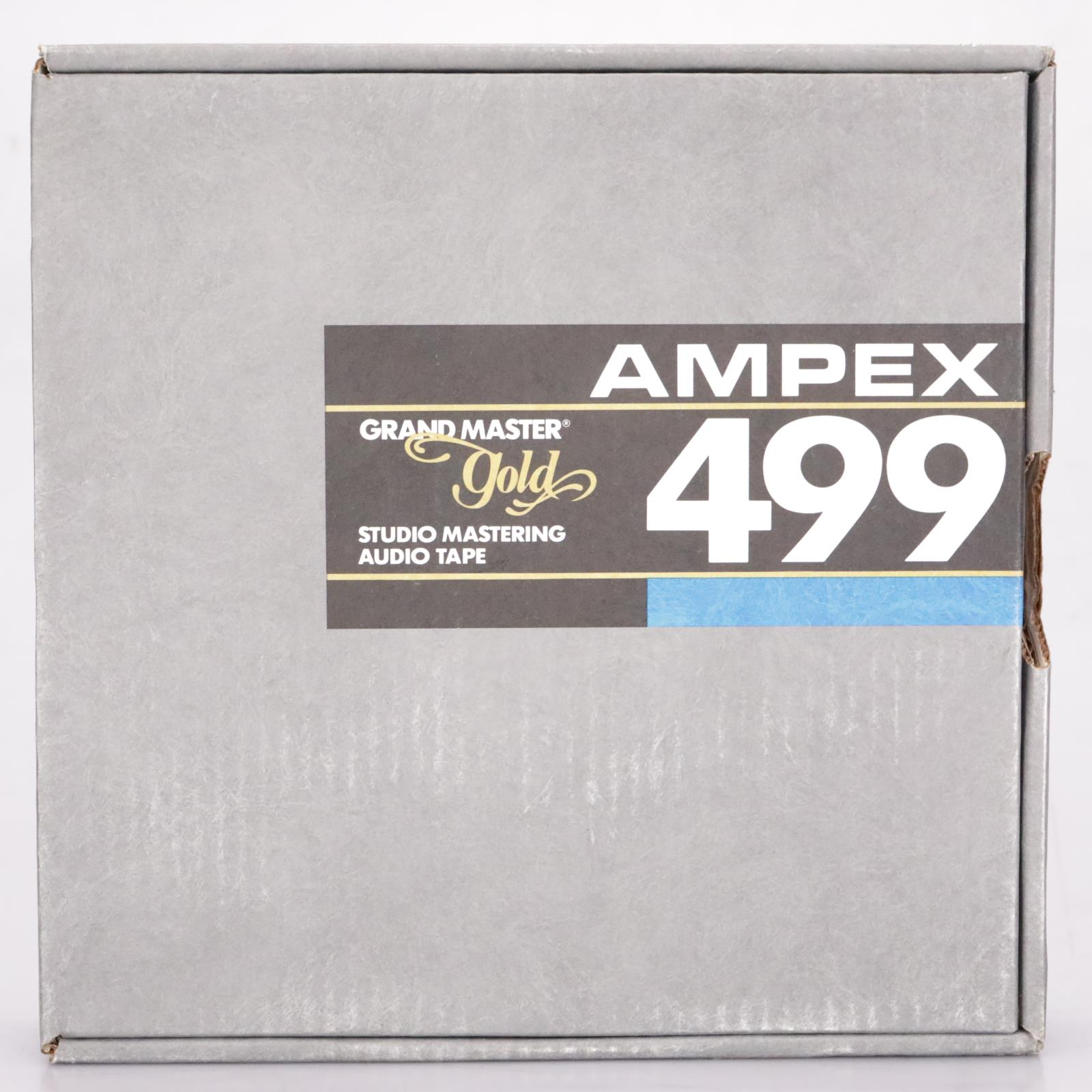 "Ampex 499 Grand Master 2"" x 2500' Gold Studio Mastering Audio Tape NOS #37338"