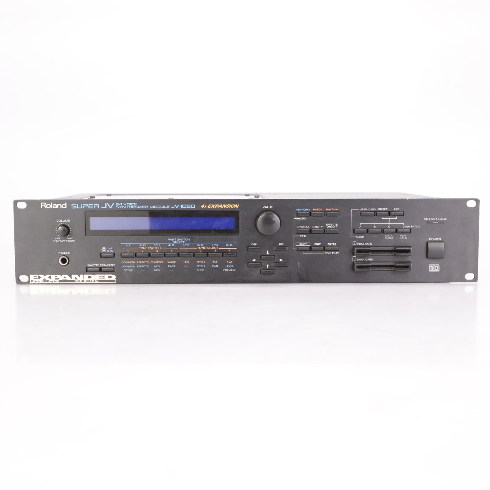 Roland Super JV JV-1080 64-Voice Synthesizer MIDI Sound Module 230V #37322