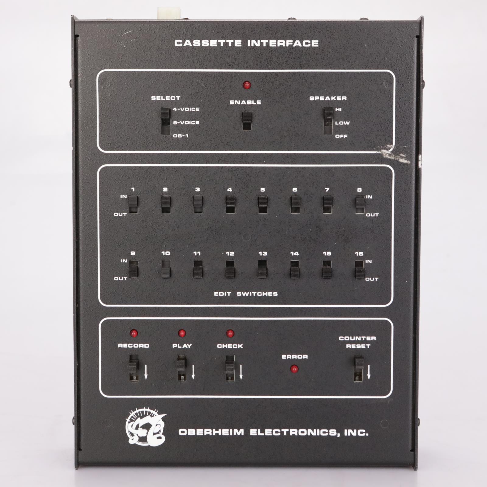 Oberheim CASS-1 Cassette Interface Tape Machine Synth Patch Load Storage #37381