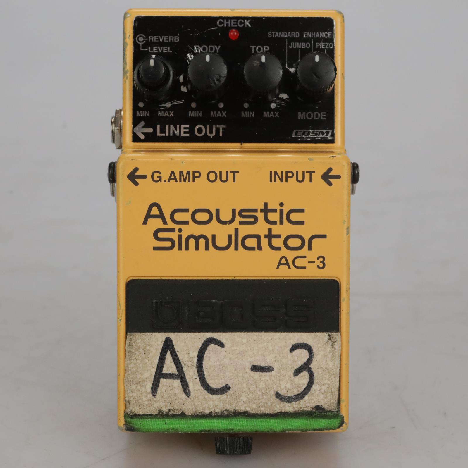 Boss AC-3 Acoustic Simulator Guitar Effects Pedal Owned By Sick Puppies #37490