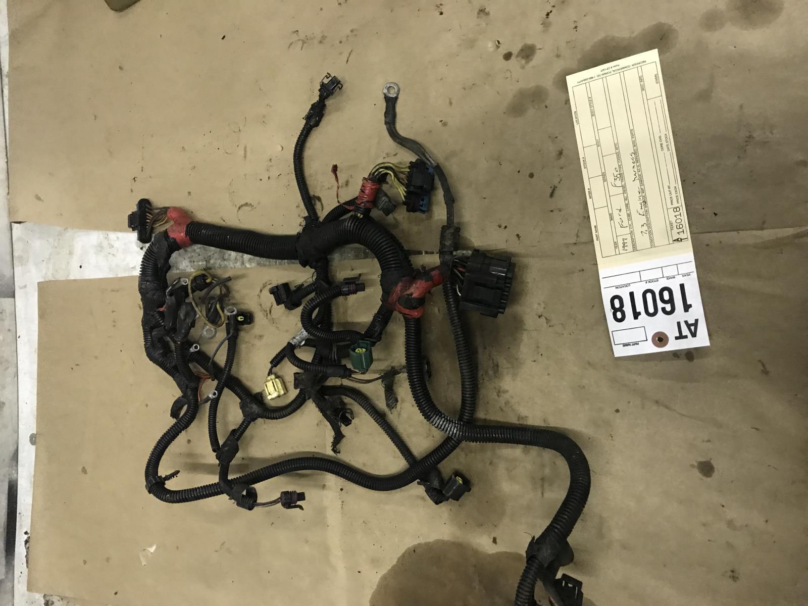 1999 Ford F350 F450 7.3L powerstroke engine wiring harness at16018   eBay   99 Ford Wiring Harness      eBay