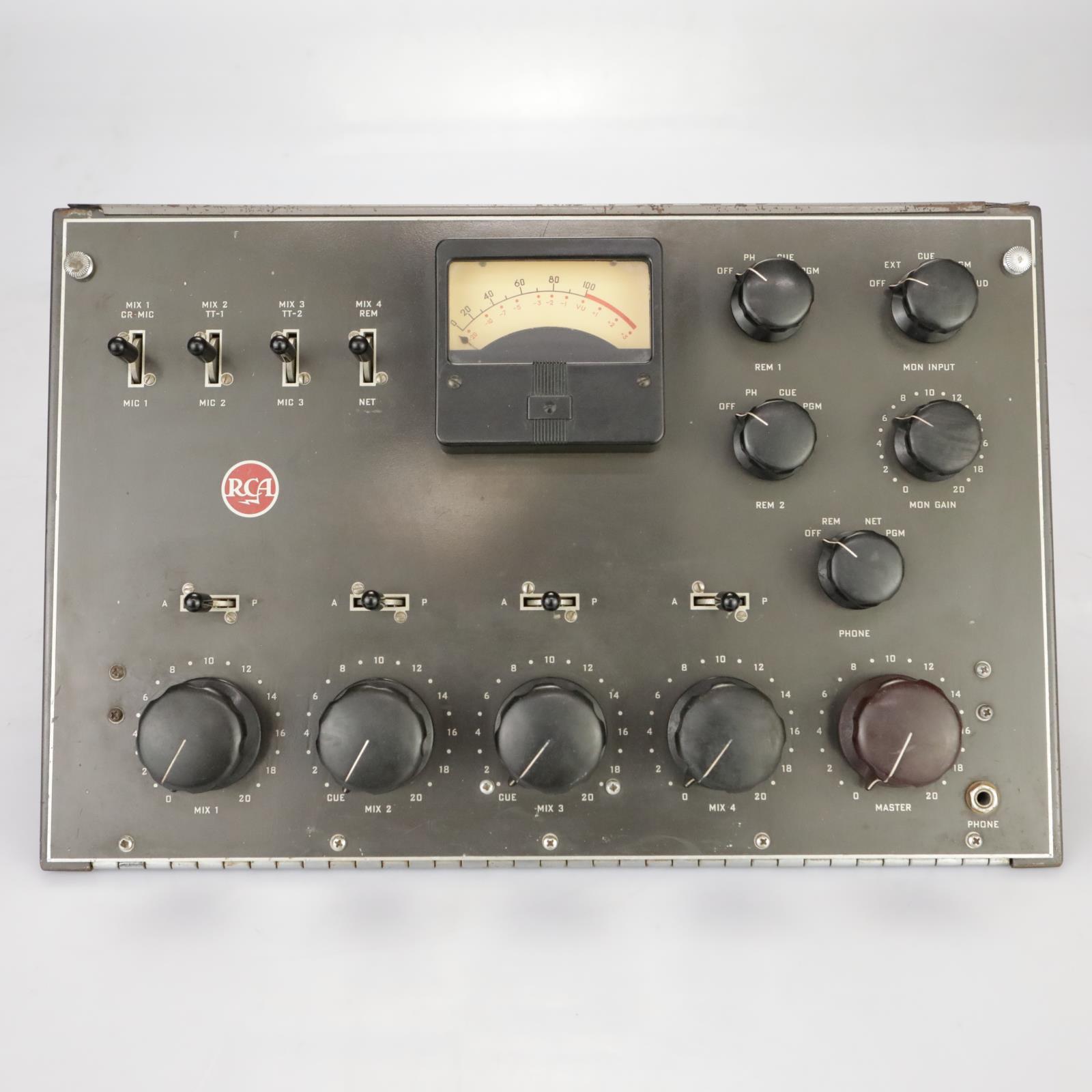1960s RCA BC-5B Audio Consolette Tube Mixer 4-Channel Analog Console Desk #37815