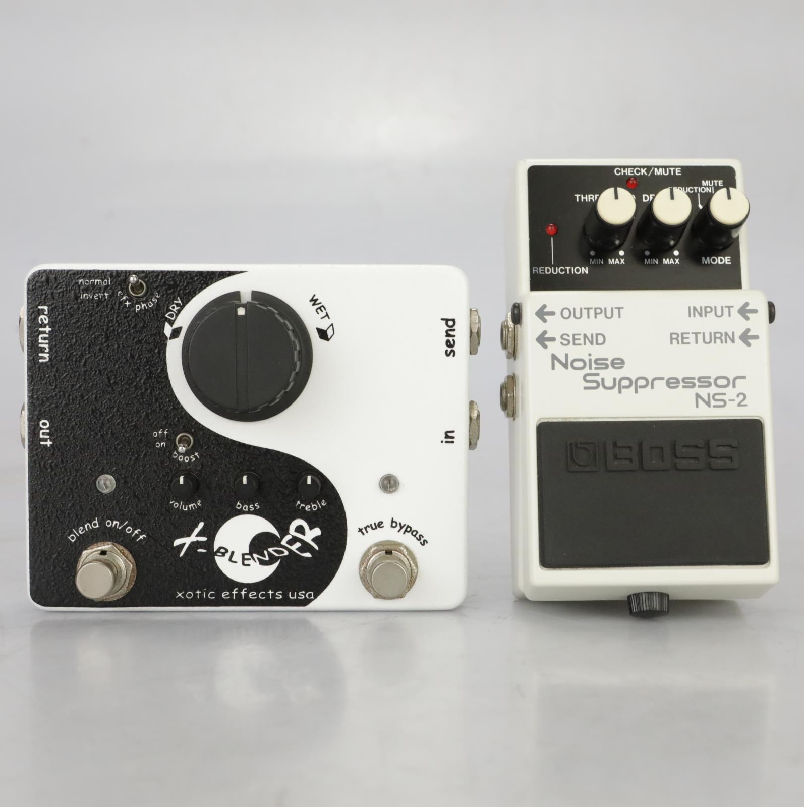 Xotic X-Blender Wet/Dry Effects Loop & Boss NS-2 Noise Suppressor Pedals #37755