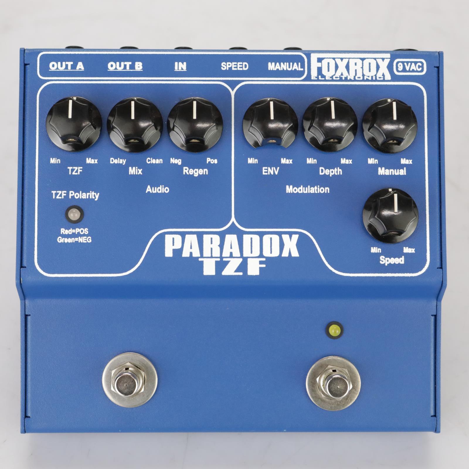 Foxrox Paradox TZF Through Zero Flanger Stereo Guitar Effect Pedal #37837