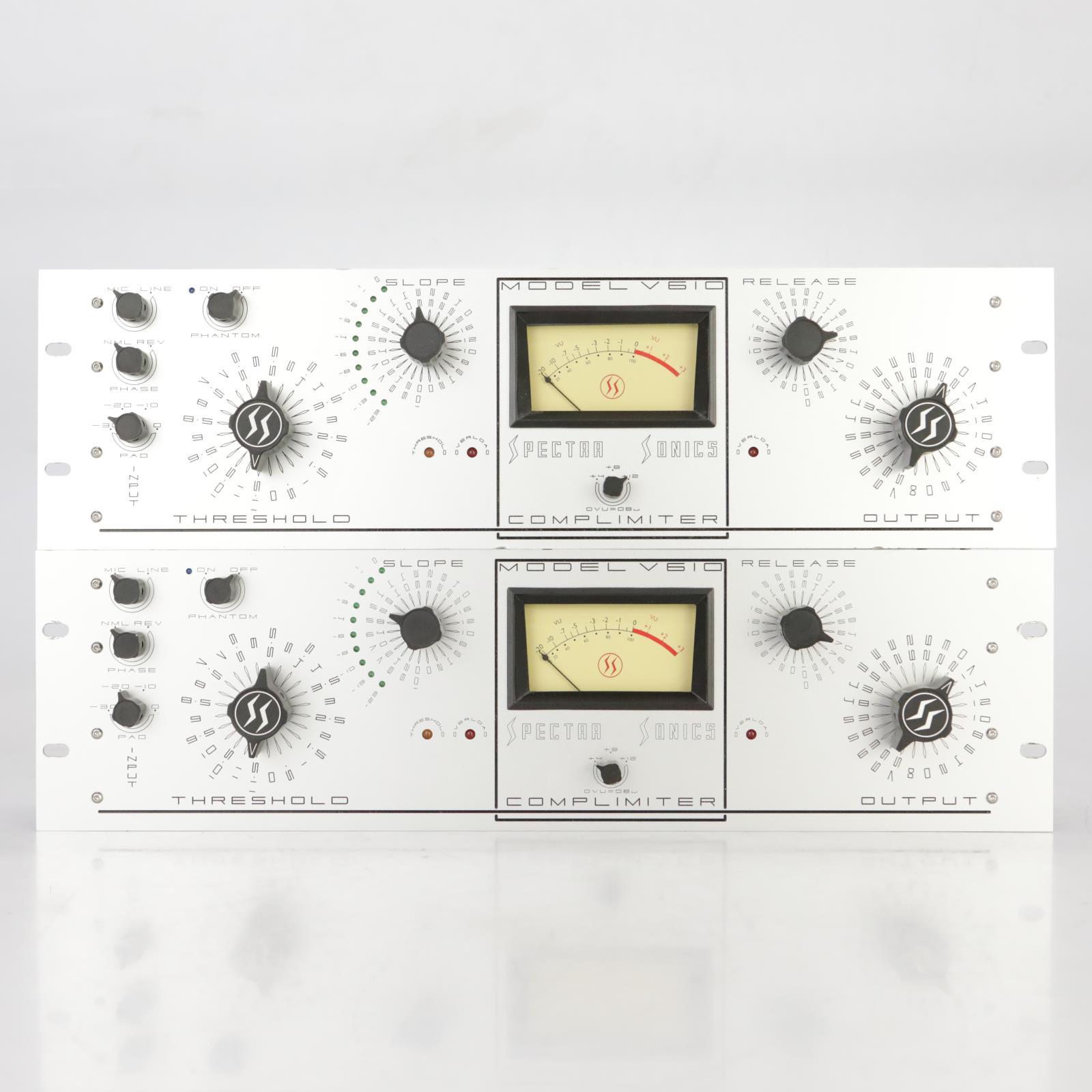 2 Spectra Sonics Complimiter Model V610 Compressor Limiter Pair #37862