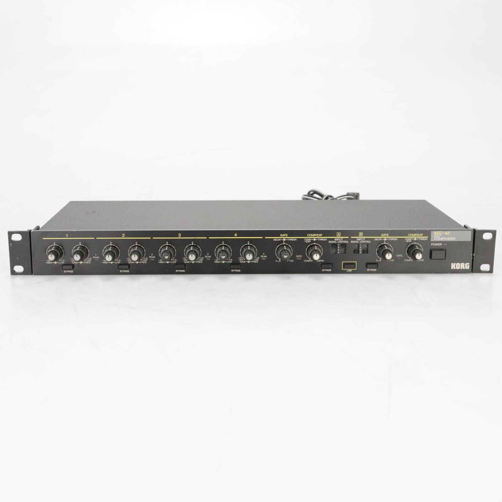 Korg KEC-42 EQ Compander Equalizer Gate Compressor Expander #37947
