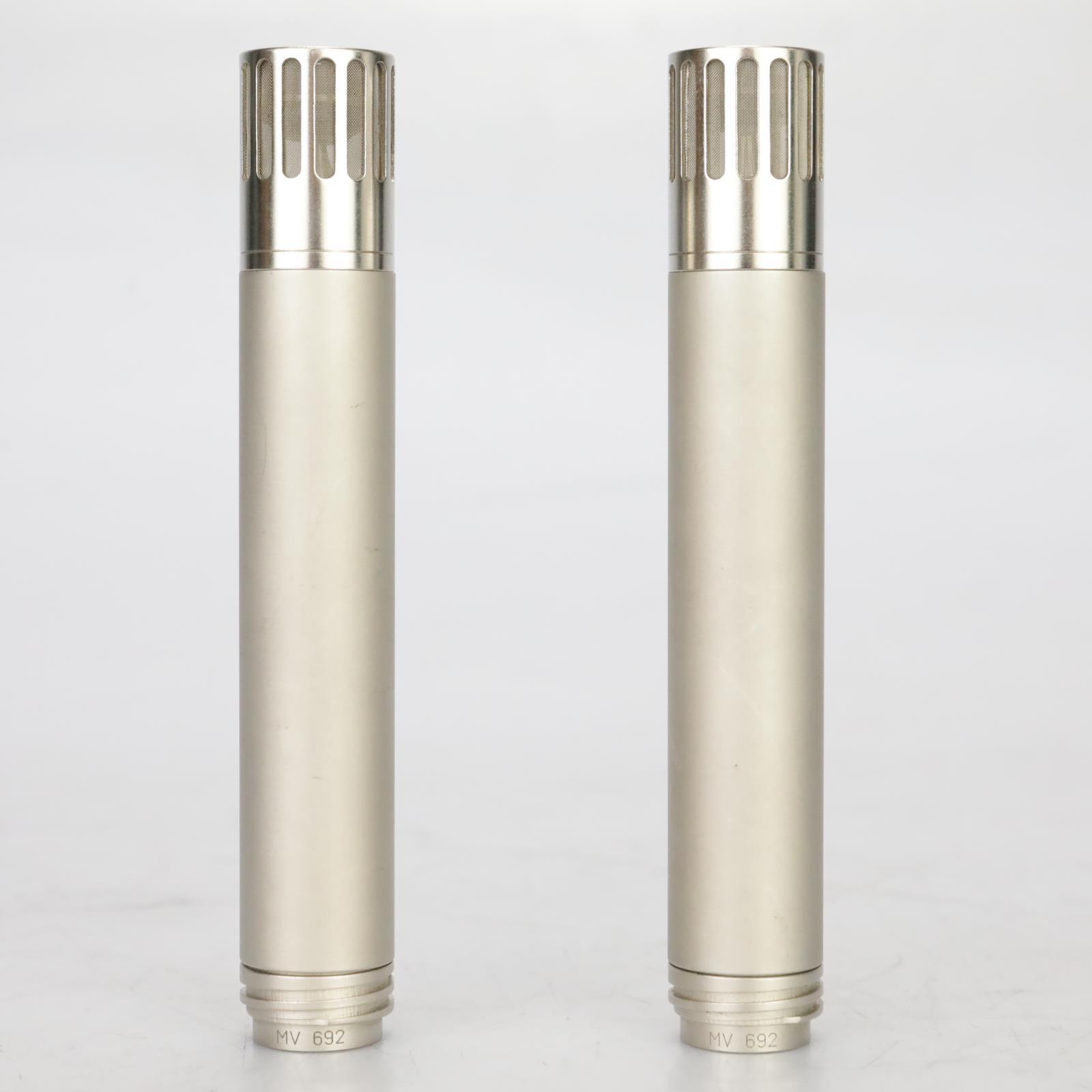 2 Gefell MV-692 Small Diaphragm Condenser Microphones Neumann RFT w/Power #37930