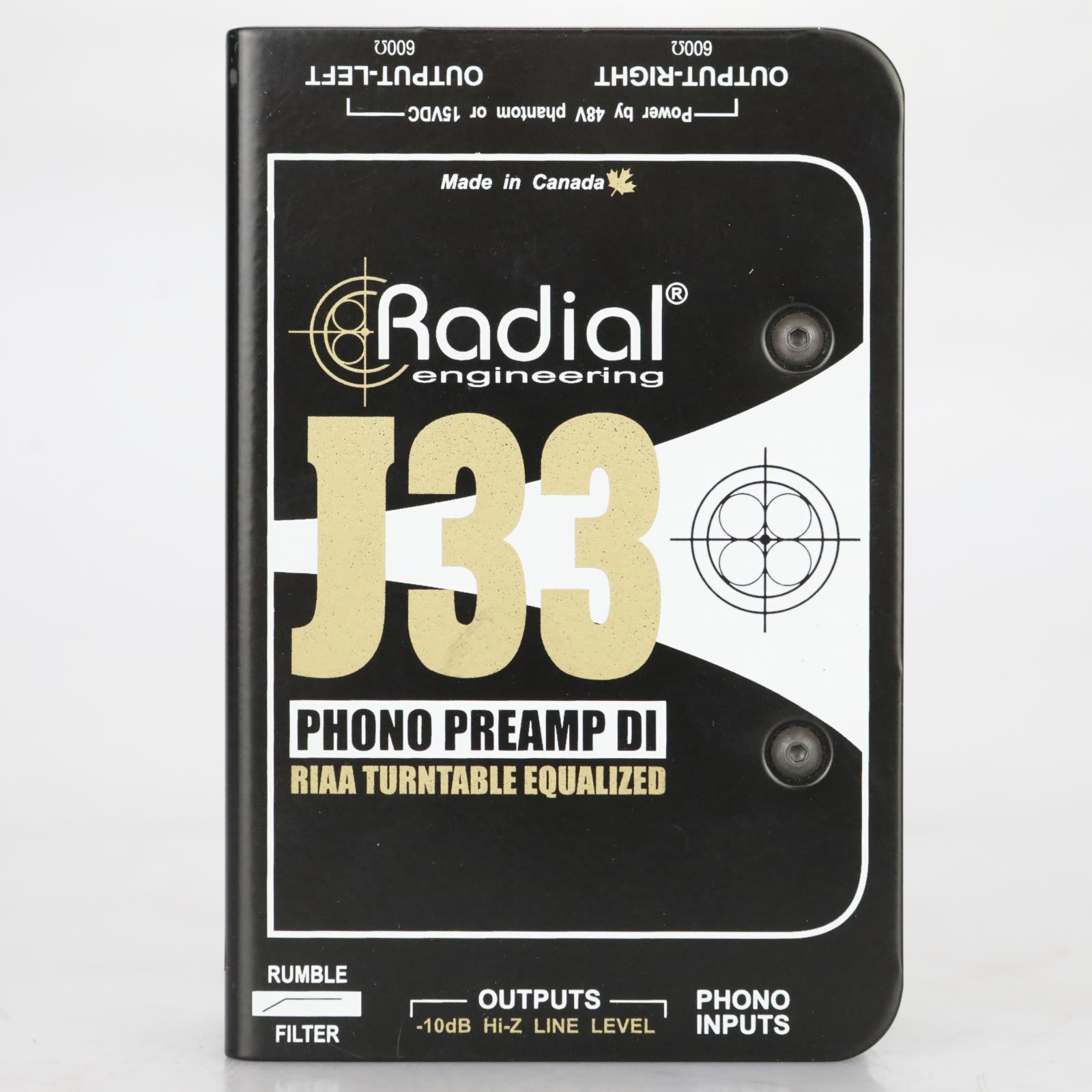 Radial J33 Phono Turntable Preamp & DI Box w/ PSU #38071