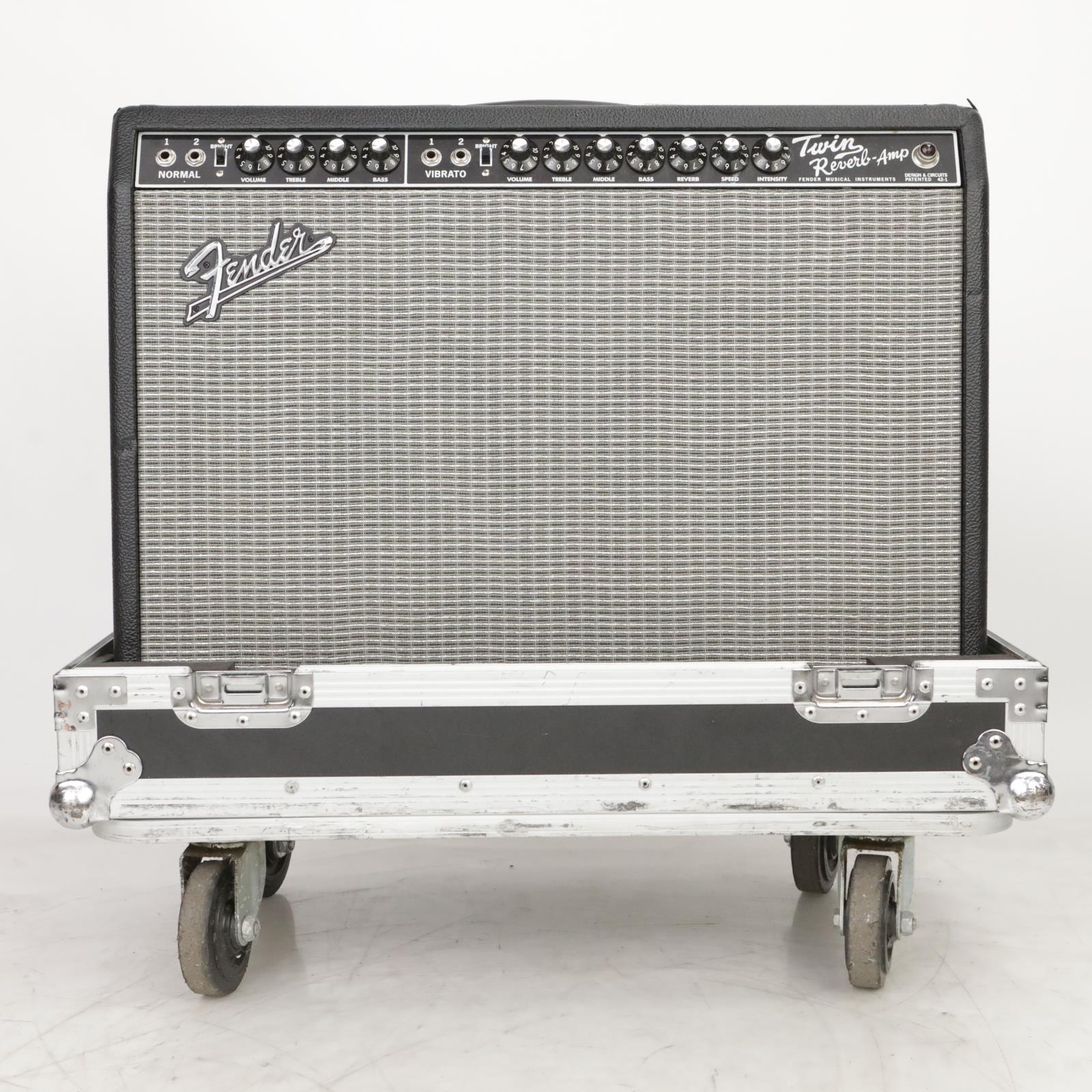 1993 Fender 65 Twin Reverb Tube Combo Amp 2x12 Guitar Amplifier Road Case #36791