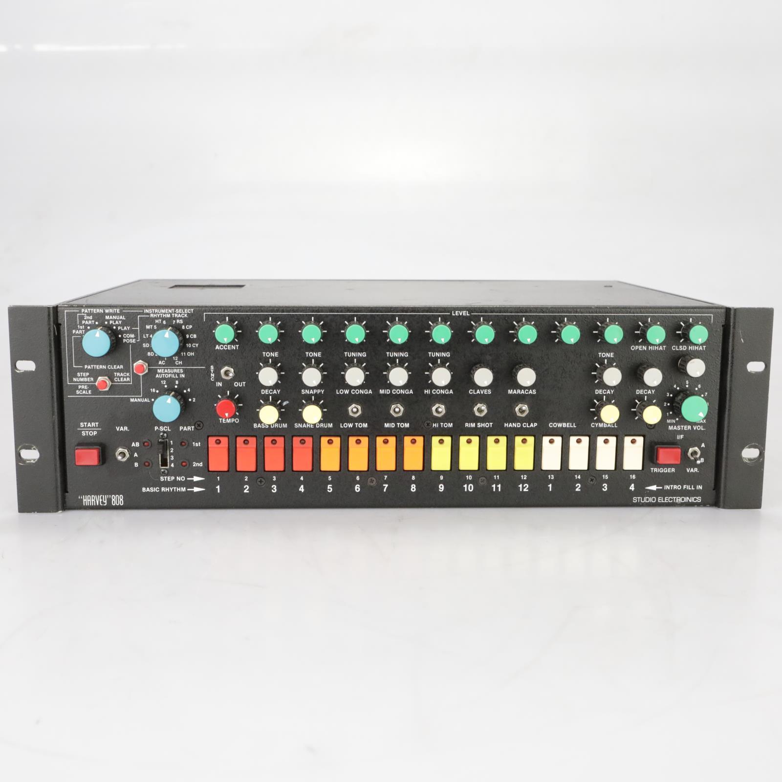 """Studio Electronics """"Harvey"""" Rack-mount Roland TR-808 Drum Machine w/ MIDI #38149"""