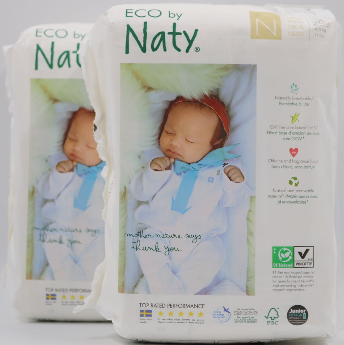 52 Nappies Eco by Naty Babycare Size 3 Nappies--1 x Pack of 52 4-9 kg