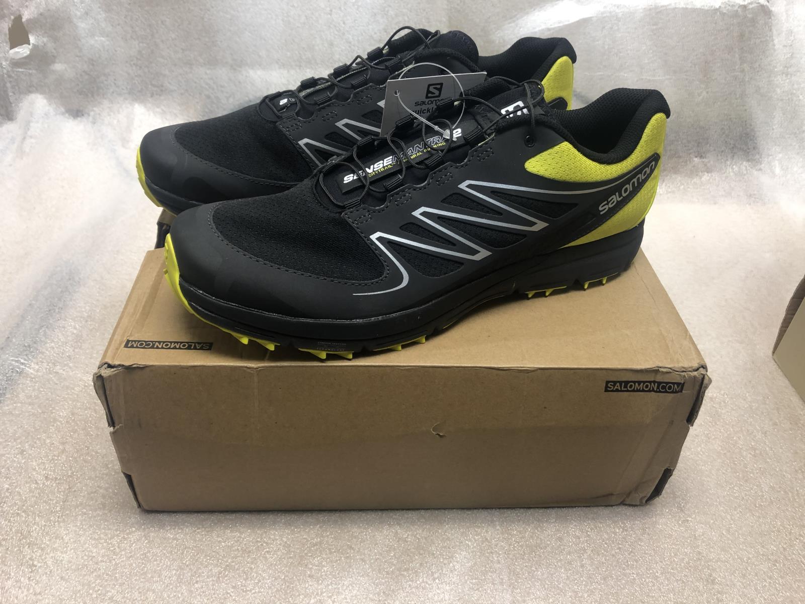Details about NIB Salomon Sense Mantra 2 Mens Running Sneakers Mimosa Yellow Black Size 9.5