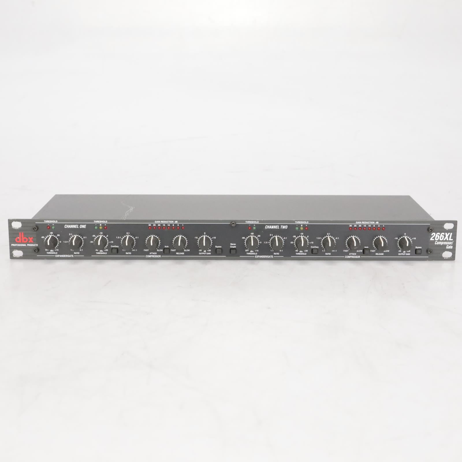 dbx 266XL 2-Channel Compressor Gate Expander Sidechain Insert Dynamics #38400