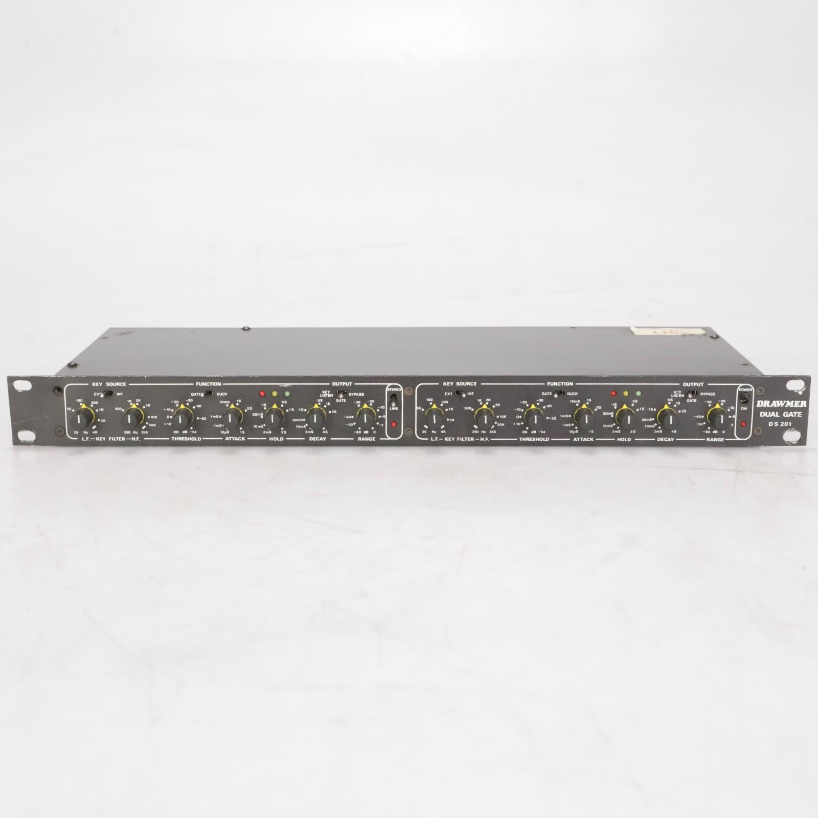 Drawmer DS 201 DS201X Dual Noise Gate w/ Key Input #38454