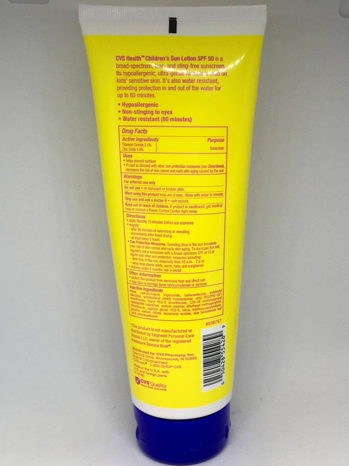 CVS Health Children's 50 Sun Lotion Broad Spectrum SPF 50 Sunscreen 4