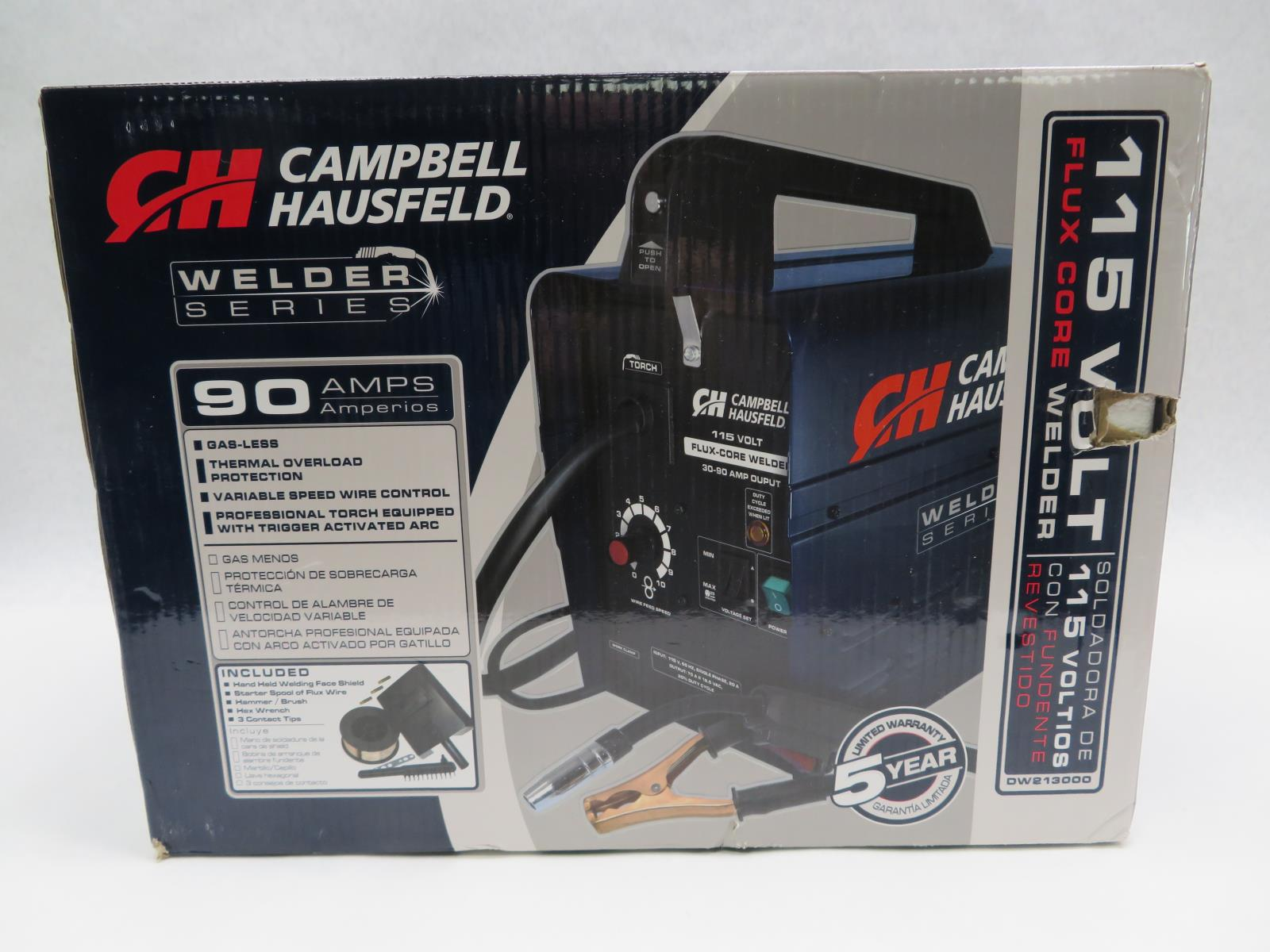 Campbell Hausfeld DW213000 115V 90 Amp Flux-Cored Wire Welde