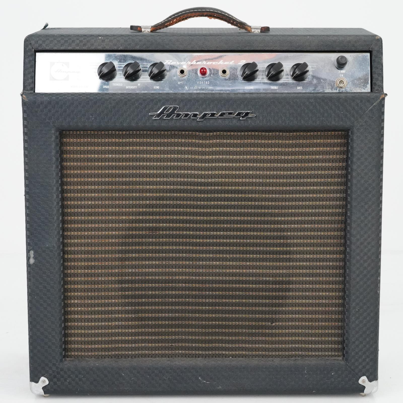 "1966 Ampeg GS-12R Reverberocket 2 Tube Combo Amplifier 1x12"" #38954"