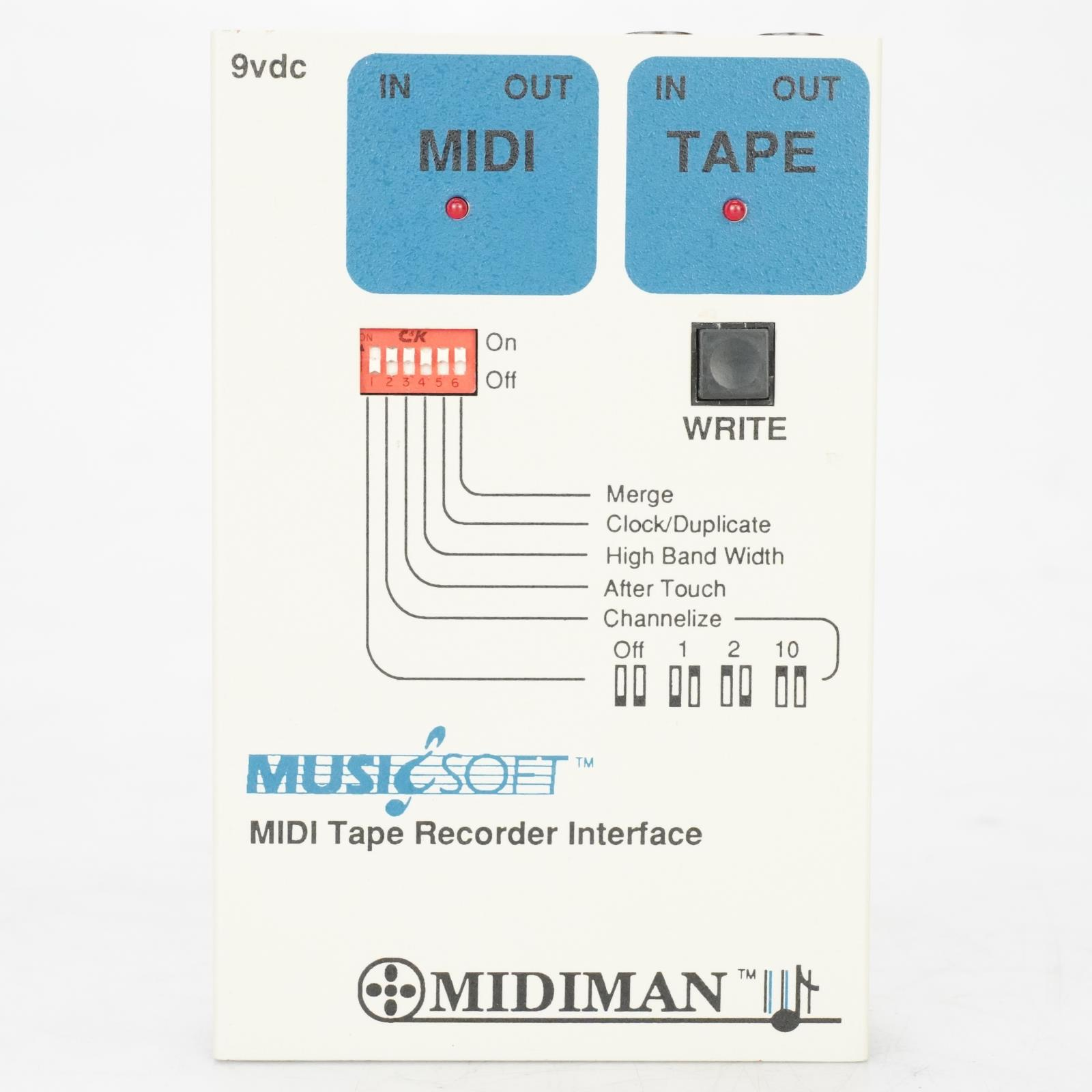 MusicSoft Midiman MIDI Tape Recorder Interface owned by Ed Cherney #39112
